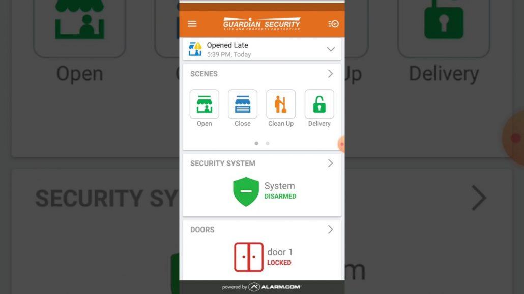Alarm.com App for your Business