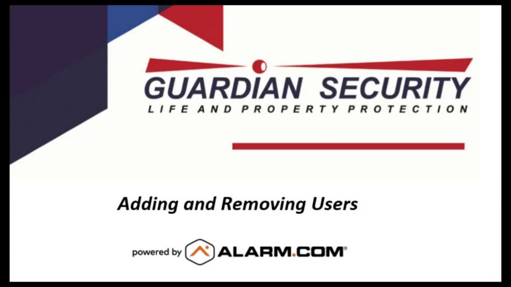 Alarm.com Tutorial - Adding Users and Codes